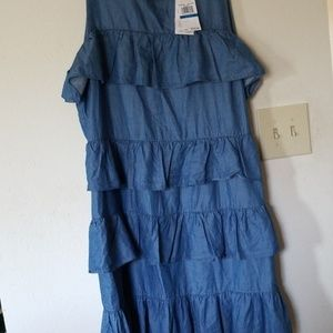 Light weight denim dress